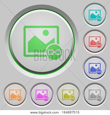 Link image color icons on sunk push buttons