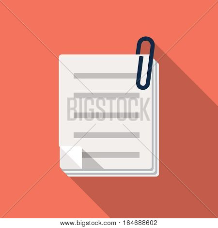 Stack of papers icon, design element for mobile and web applications, eps 10