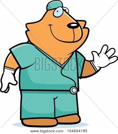 Cartoon Cat Doctor