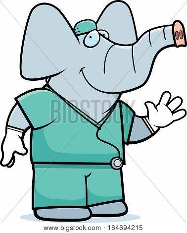 Cartoon Elephant Doctor