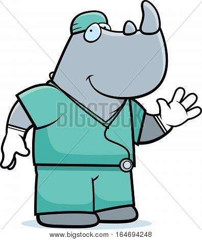 Cartoon Rhino Doctor
