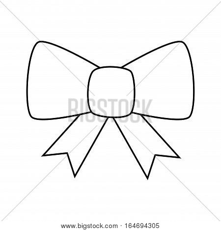 happy merry christmas bowtie card vector illustration design