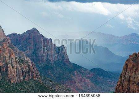 Storm In Zion National Park