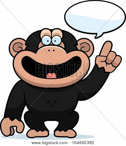 Cartoon Chimpanzee Talking