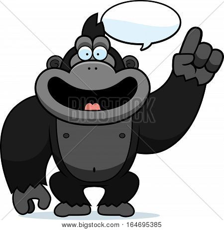 Cartoon Gorilla Talking