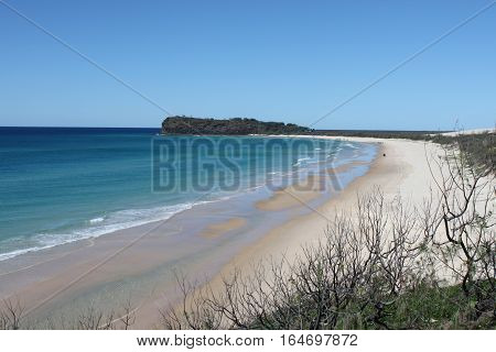 Stunning view overlooking the beach of Fraser Island