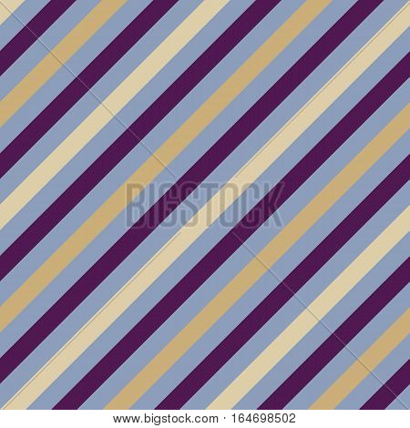 Seamless geometric pattern. Stripy texture for neck tie. Diagonal contrast strips on background. Gray, purple, cream colors. Vector