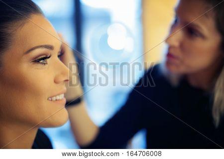 Makeup Artist Applies Skintone
