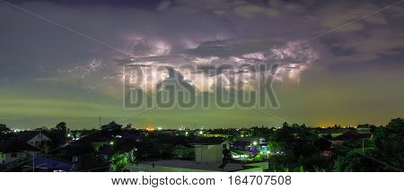 The Bolt before it will rain of city