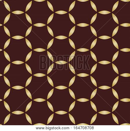 Seamless ornament. Modern geometric pattern with repeating elements. Brown and golden pattern