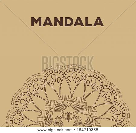 mandala relaxation buddhism classic poster vector illustration eps 10