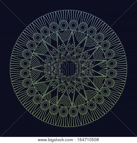 mandala element spiritual harmony tribal vector illustration eps 10