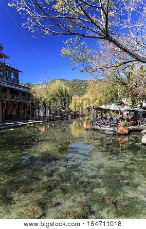 Lijiang, China - November 14, 2016: Main Square Of Shuhe Old Town, Not Far From Lijiang Old Town