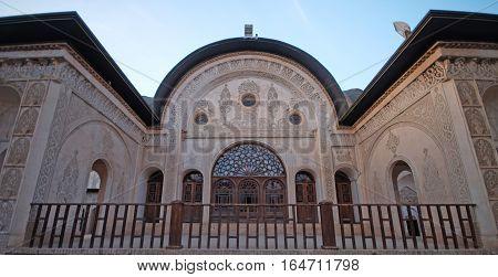 KASHAN IRAN - OCTOBER 2016: Khan-e Tabatabei traditional house 2016 in Kashan Iran.