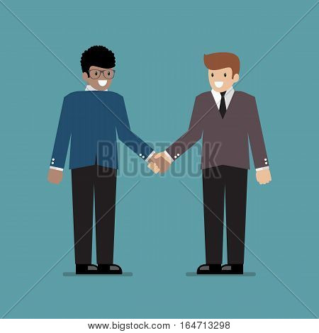 Business people shaking hands during a meeting. Business concept