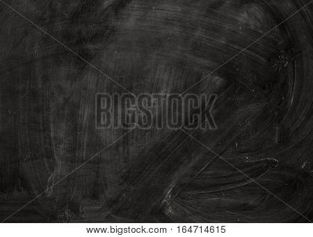 Blank chalkboard. Chalk rubbed out on blackboard. Background image