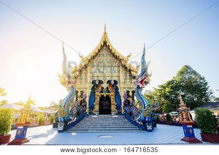 Wat Rong Suaten Is The Public Temple.this Is The Most Popular Temple In Chiang Rai, Thailand.