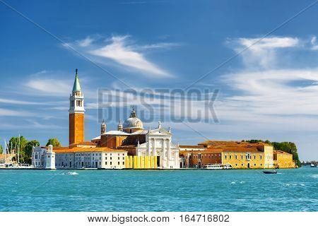 View Of The Church Of San Giorgio Maggiore In Venice, Italy