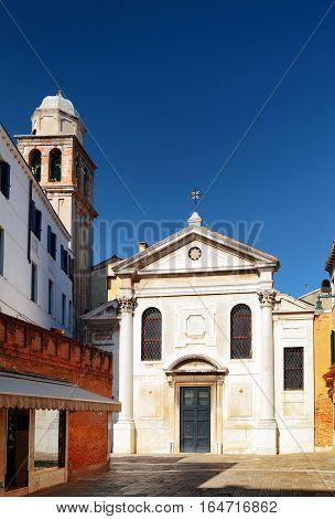 View Of Facade Of The San Simeone Profeta Church, Venice, Italy