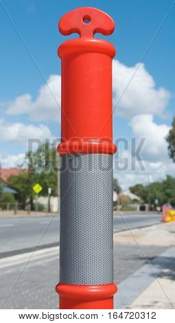 T Top Temporary Bollard with reflect collar