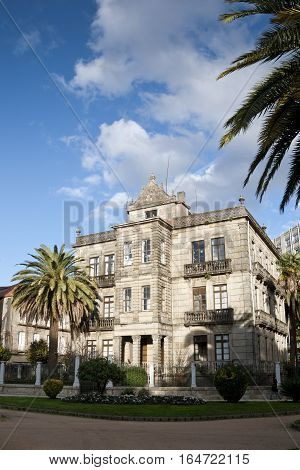 Villa Pilar, in Pontevedra city, Galicia, Spain. This small palace was built in XIX century and is located next to the Vicenti Gardens