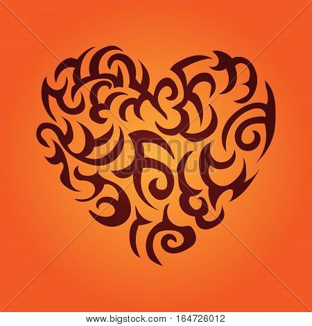 Heart vector color illustration on Valentine's Day