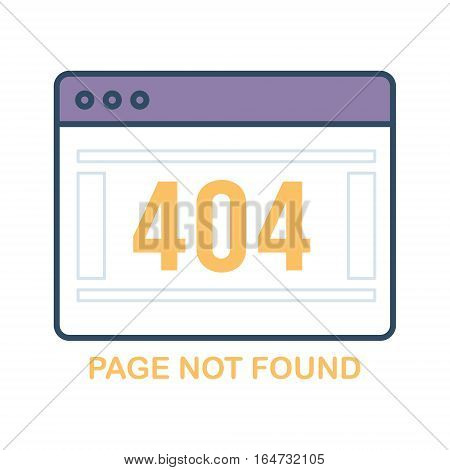 Error 404. Page not found. Flat design vector illustration.