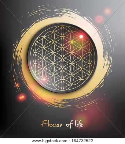 Flower of life. Sacred geometry. Vector illustration. Eps10.