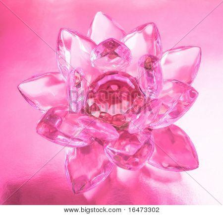 Diamond flower on pink background