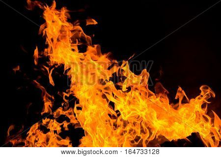 Fire flames isolated background. Power and energy concept