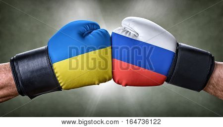 A Boxing Match Between Ukraine And Russia
