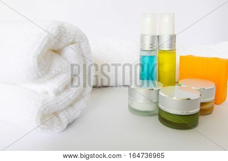 Towels, a scourers used for bathing with cosmetic fragrance