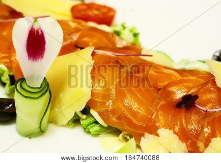 Red Fish Or Salmon Slices