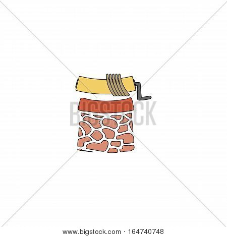 The well with drinking water vector illustration isolated on a white background.
