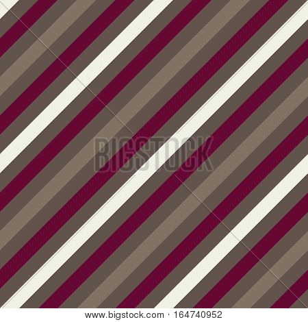 Seamless geometric pattern. Stripy texture for neck tie. Diagonal contrast strips on background. Vinous, gray, white colors. Vector