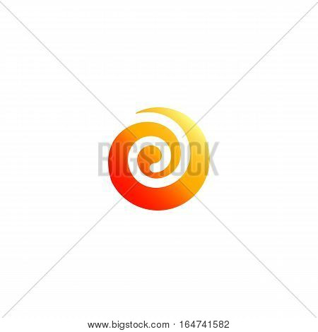 Whirl vector illustration isolated on a white background.