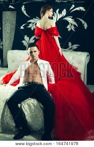 Elegant Sexy Young Couple