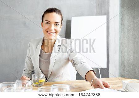 Interview. Recruitment woman during a job interview. Businesswoman in office. Office work.