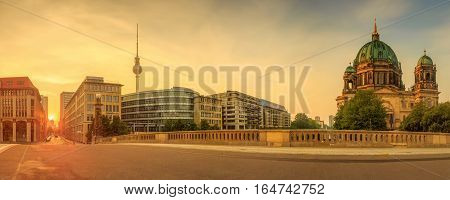Morning view of Berlin Cathedral, Berliner Dom , Germany