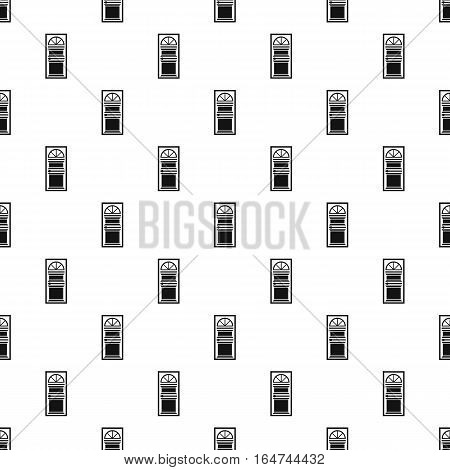 Door with an arched glass pattern. Simple illustration of door with an arched glass vector pattern for web design