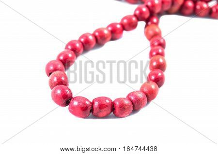 red beads on white backgrounddecoration pearl jewelry bead bright ornament