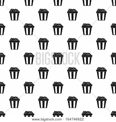 Box of popcorn pattern. Simple illustration of popcorn box vector pattern for web