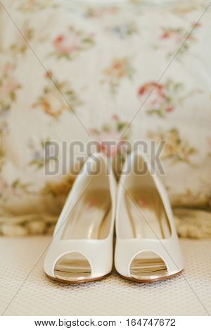 fancy wedding shoes. Bridal shoes in fine art style