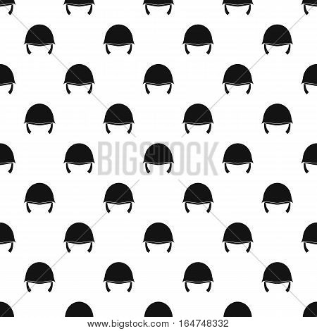 Military helmet pattern. Simple illustration of military helmet vector pattern for web