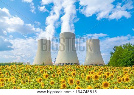 Nuclear power plant in Czech Republic Europe