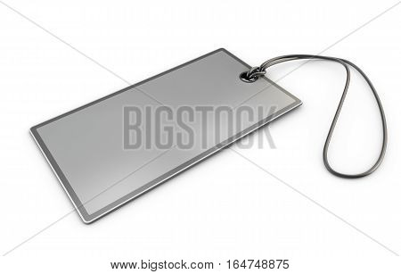 3D Illustration Of Tag Lable On White Background.