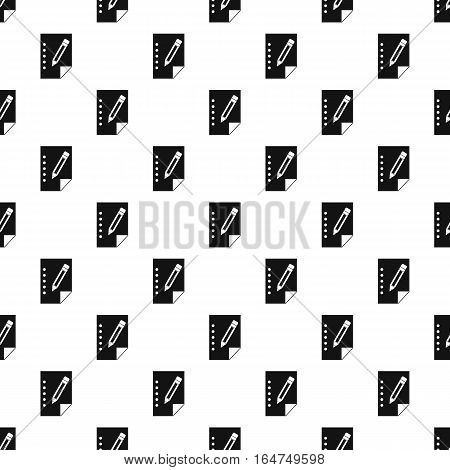 Sheet of paper and pencil pattern. Simple illustration of sheet of paper and pencil vector pattern for web