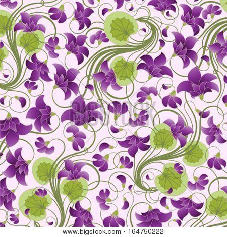 Floral background.Vector illustration.