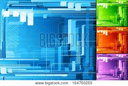 Abstract digital design. Vector illustration.