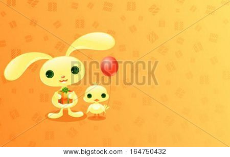 Cute baby animals.Vector illustration.